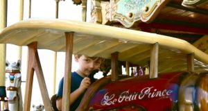 """Le Petit Prince"" themed carrousel in Paris. Photo: Virginia Jones"