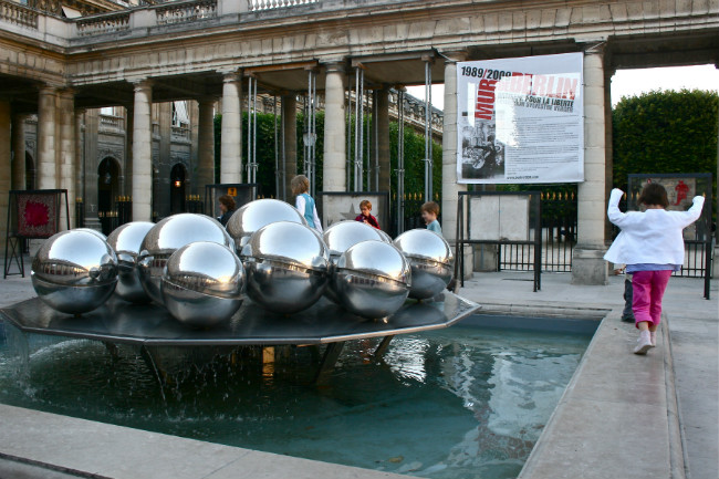 Art installations in the Palais Royal, a playground for kids