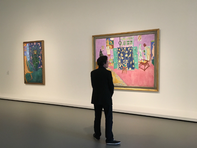 "Admiring masterpieces from the ""Shchukin Collection"" at the Fondation Louis Vuitton"