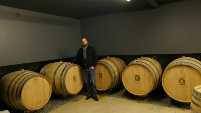 Wine barrels at Les Vignerons Parisiens