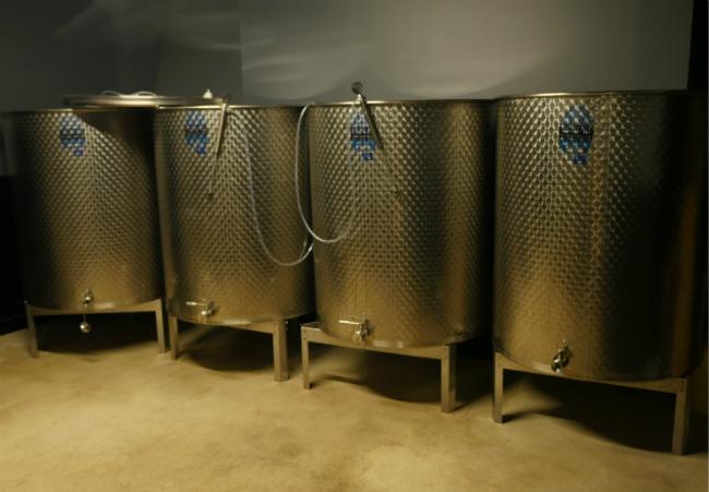Fermentation tanks at Les Vignerons Parisiens