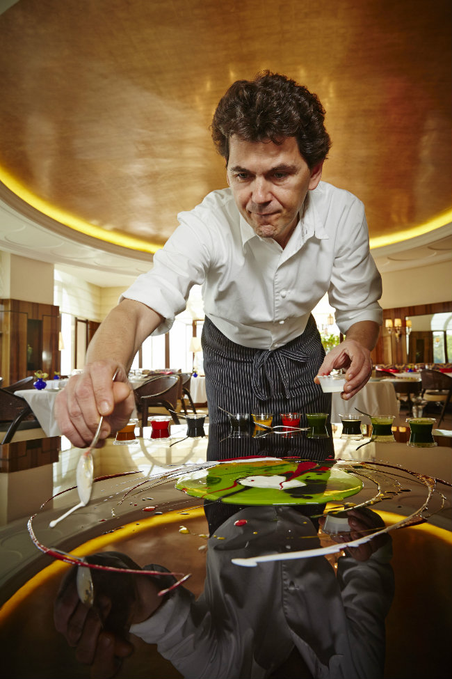 Chef Davide Bisetto at the Hotel Cipriani