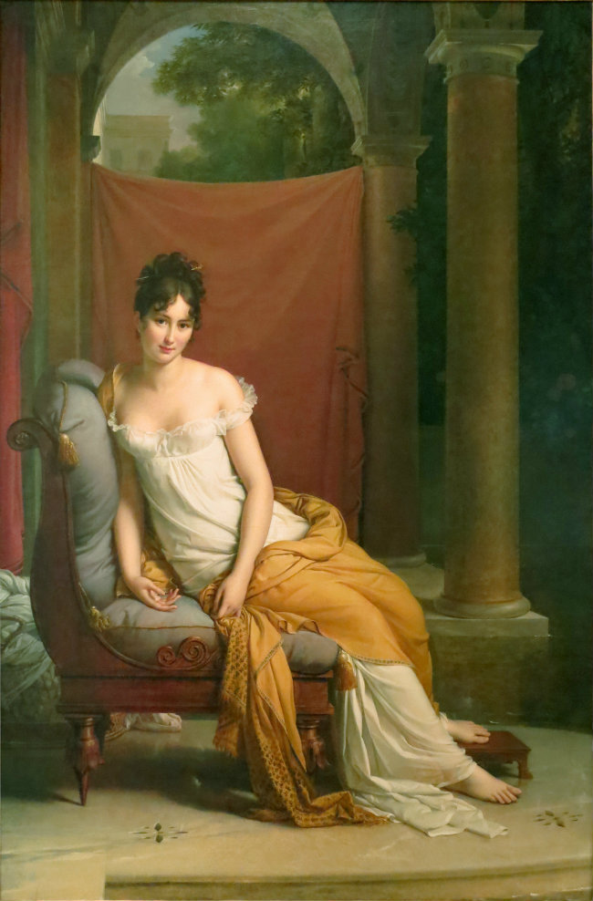 Portrait of Juliette Récamier  by François Gérard