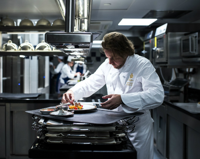 Chef Nicolas Sale in the kitchens of the Ritz Paris
