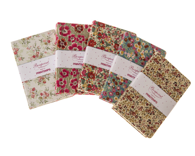 Liberty notebooks, 25 euros, Bonpoint exclusive for Printemps