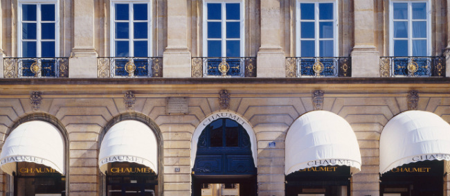 The Chaumet facade on the Place Vendôme