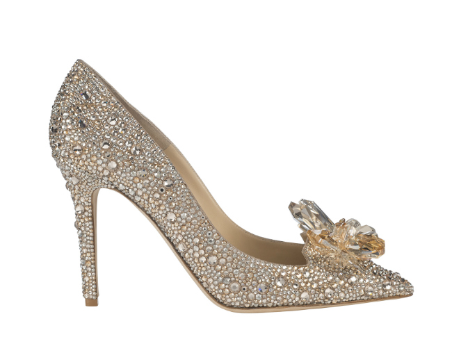 """Cinderella"" shoe, 3495 euros, Jimmy Choo exclusive for Printemps"