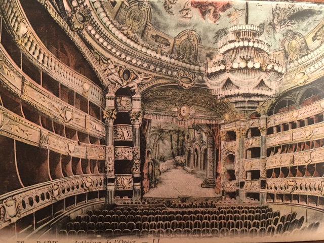 vintage postcard of the Opera's interior. Photo courtesy of Sue Laramore