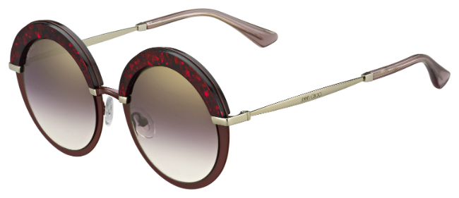 """Gotha"" sunglasses in red, 340 euros, Jimmy Choo exclusive for Printemps"