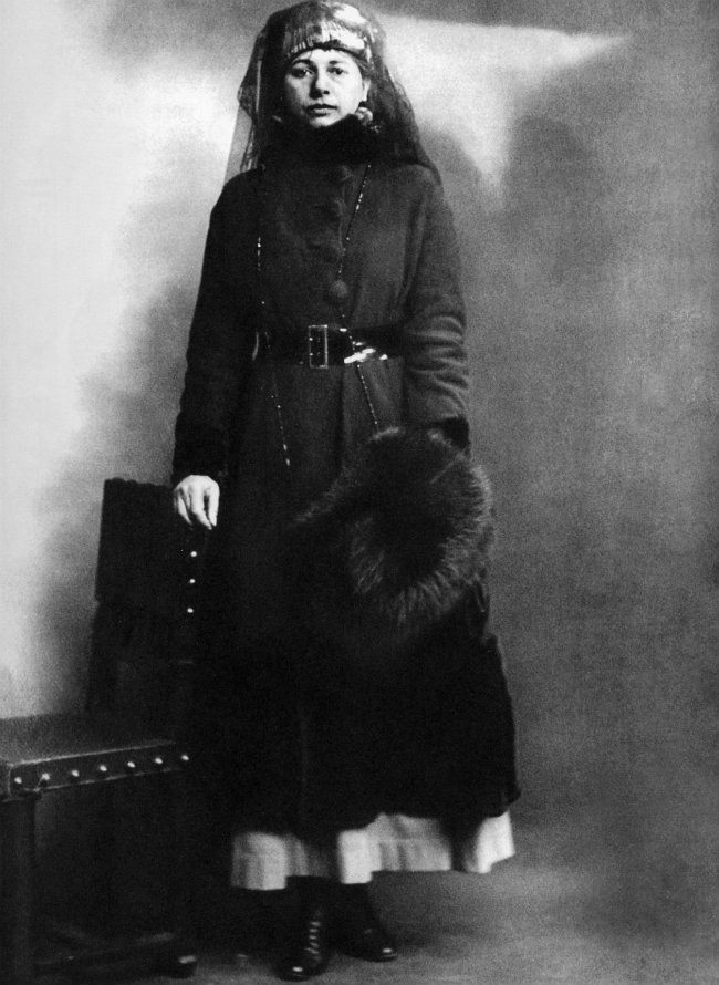 Mata Hari on the day of her arrest in 1917