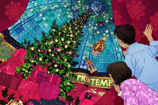 """Rêve de Noël"" theme for Christmas 2016 at Printemps. By Peter Diamond"