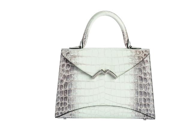"Galeries Lafayette ""Dream Bags."" Exclusive. MOYNAT – Small Gabrielle handbag in Natura crocodile. €31,000."