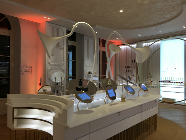 The cool concept store at the Grand Musée du Parfum