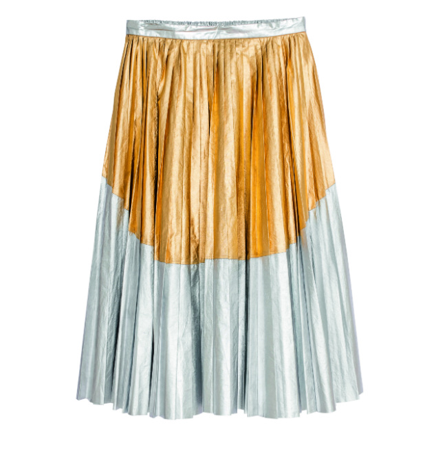 Exclusive. N°21. Cotton and polyurethane accordion-pleated skirt. €925.