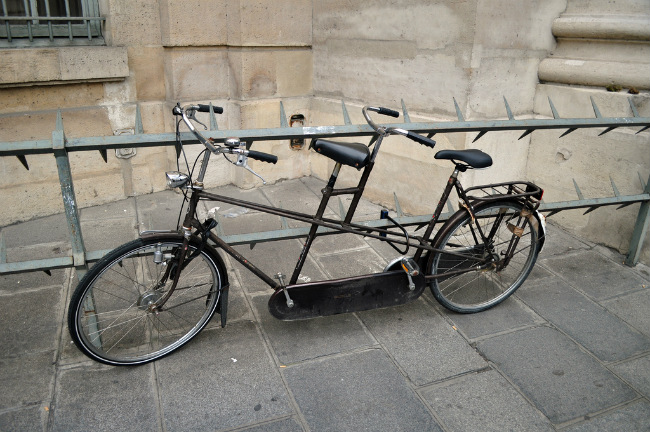 Bicycle outside the Sorbonne