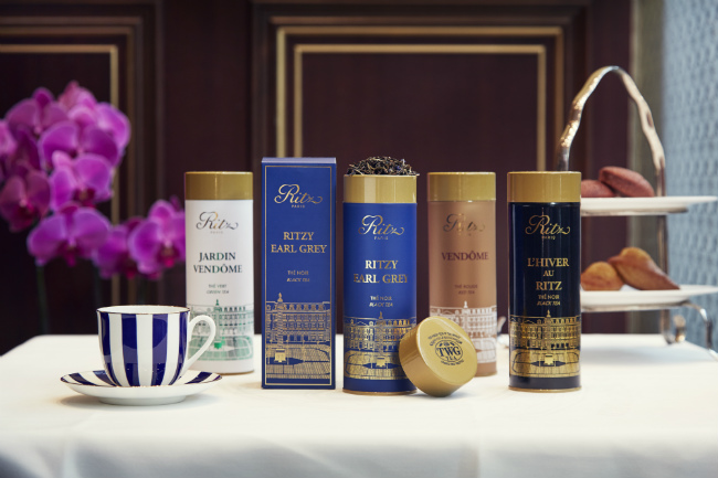 The tea collection at The Ritz Paris