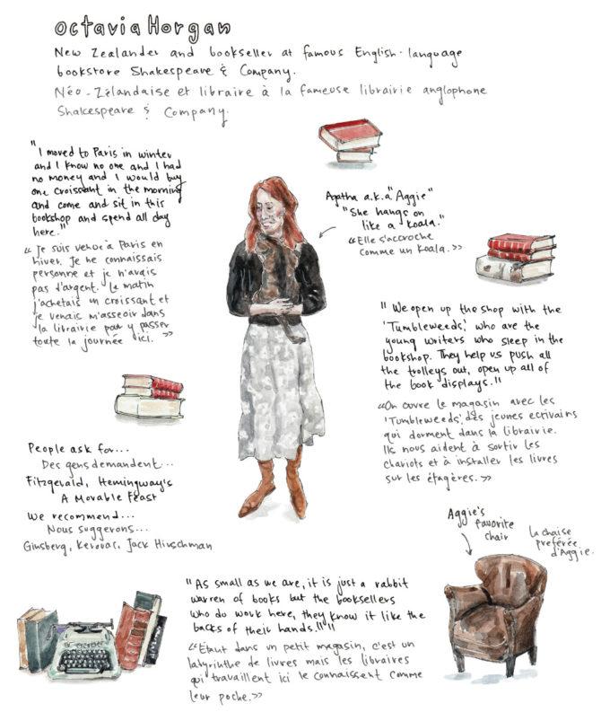 Parisians in Profile: Octavia Horgan, Shakespeare & Company Bookseller