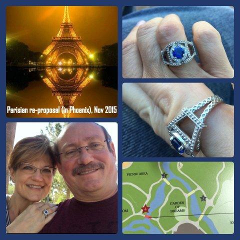 La Première Fois: An Eiffel Tower Anniversary Ring by Lori Lamb