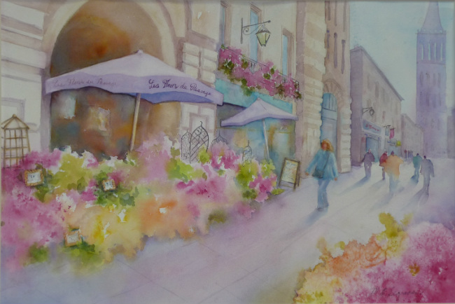 La Première Fois: A Paris Memory (& a Watercolor) by Mary Ellen Segraves