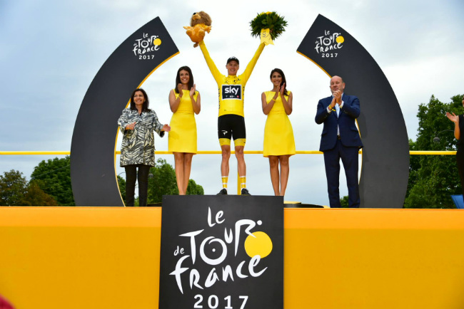 Tour de France Winner Chris Froome Cycles to Victory in Paris