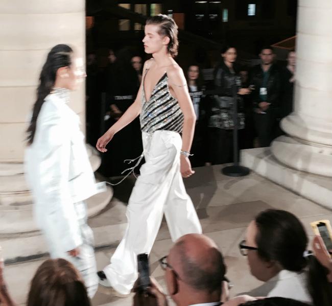Anne Sofie Madsen's Open-Air Show at Paris Fashion Week