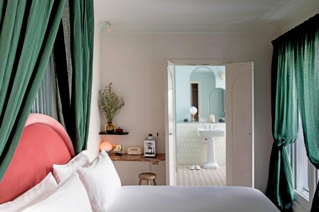France, Hotel, Bedroom, Bed