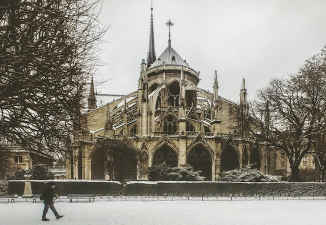 Paris Moments: Photo of the Month, Notre-Dame in the Snow