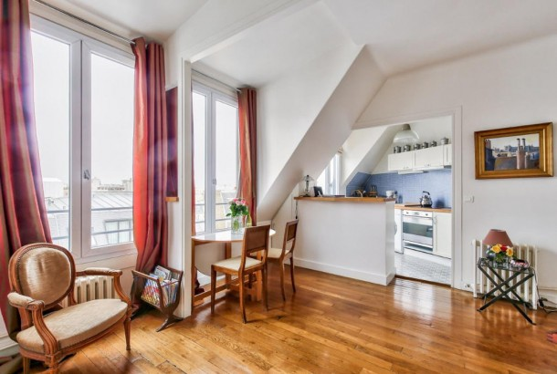 For Sale: One-Bedroom Apartment overlooking Sacré-Coeur in