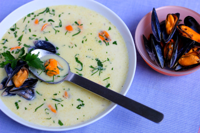 Winter Recipes: Paul Bocuse's Billy Bi Mussel Soup