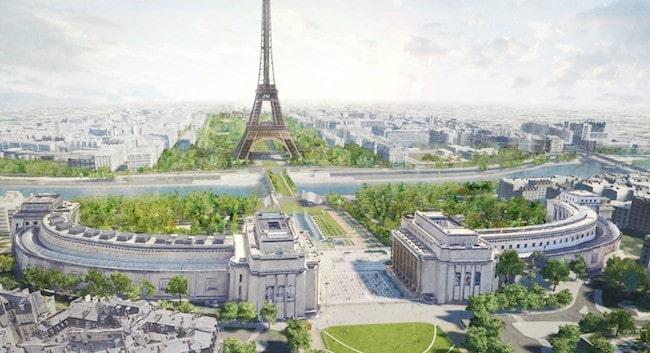 Green Paris: A Giant Garden Connecting the Trocadéro & Eiffel Tower