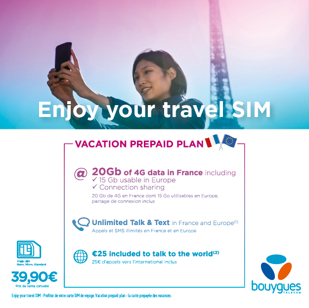 changer carte sim bouygues Bouygues TeleLaunches Fabulous New SIM Plan for Tourists