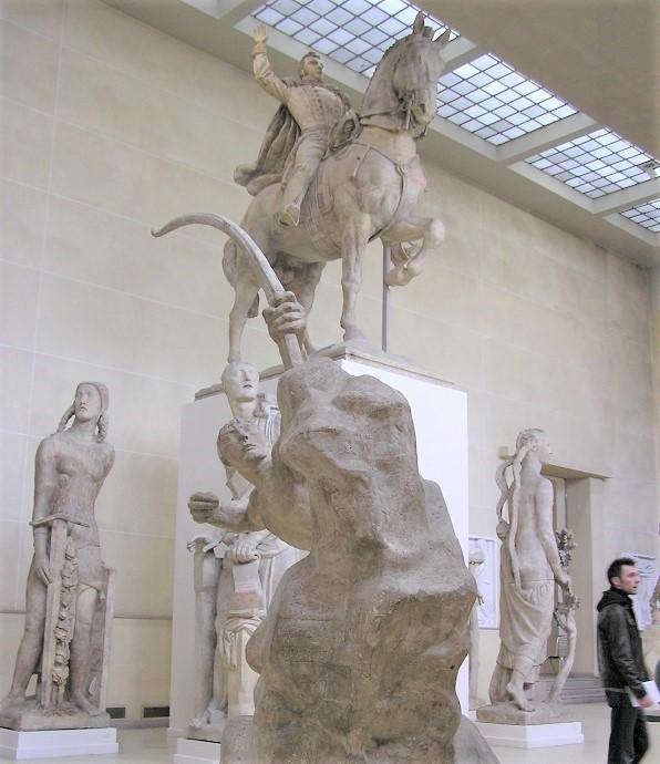 Plaster room of the Bourdelle museum in Paris