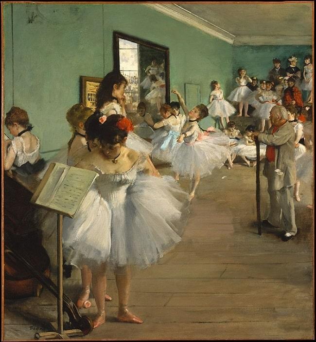 Edgar Degas, The Ballet Class, 1874, Metropolitan Museum of Art