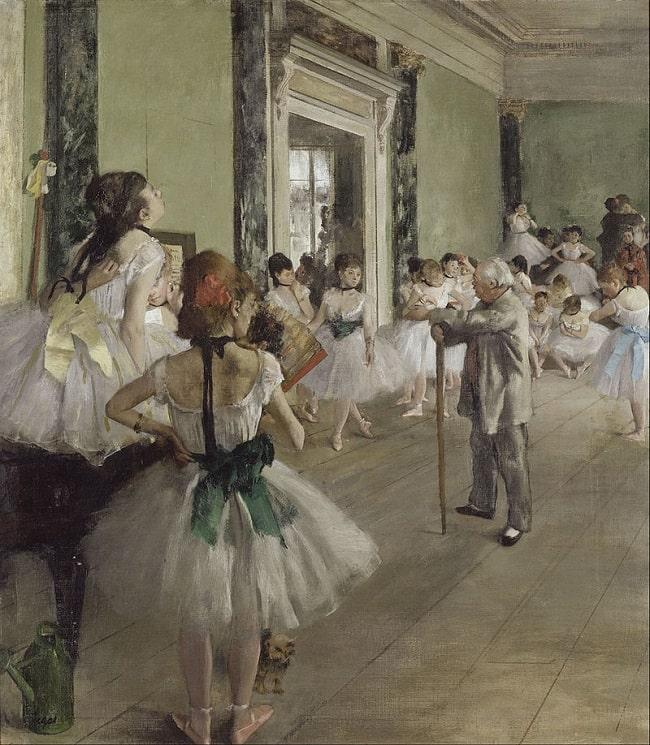 Edgar Degas, The Ballet Class, 1873, Musée d'Orsay
