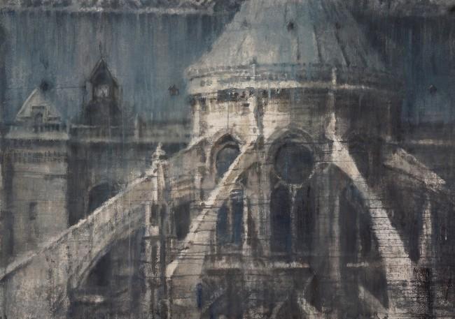 Uncannily Prescient: Notre-Dame de Paris Painted by Chizuru Morii Kaplan