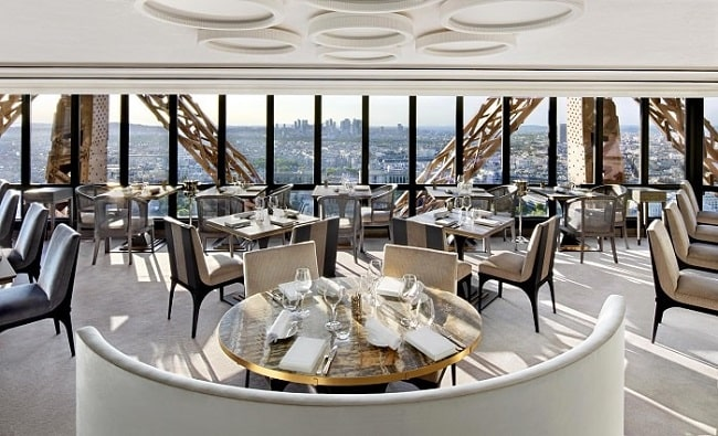 Eiffel Tower Dining At Le Jules Verne Restaurant in Paris