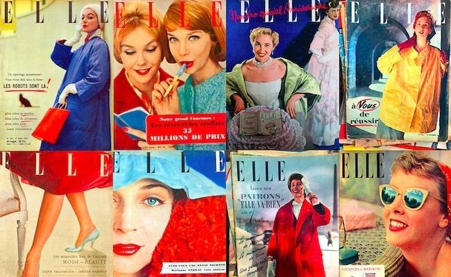 Paris Flea Market Finds: Favorite Vintage Fashion Magazine Covers