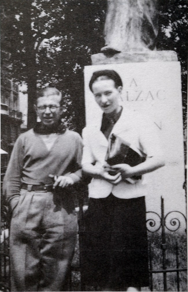 Jean-Paul Sartre and Simone de Beauvoir, Balzac Memorial
