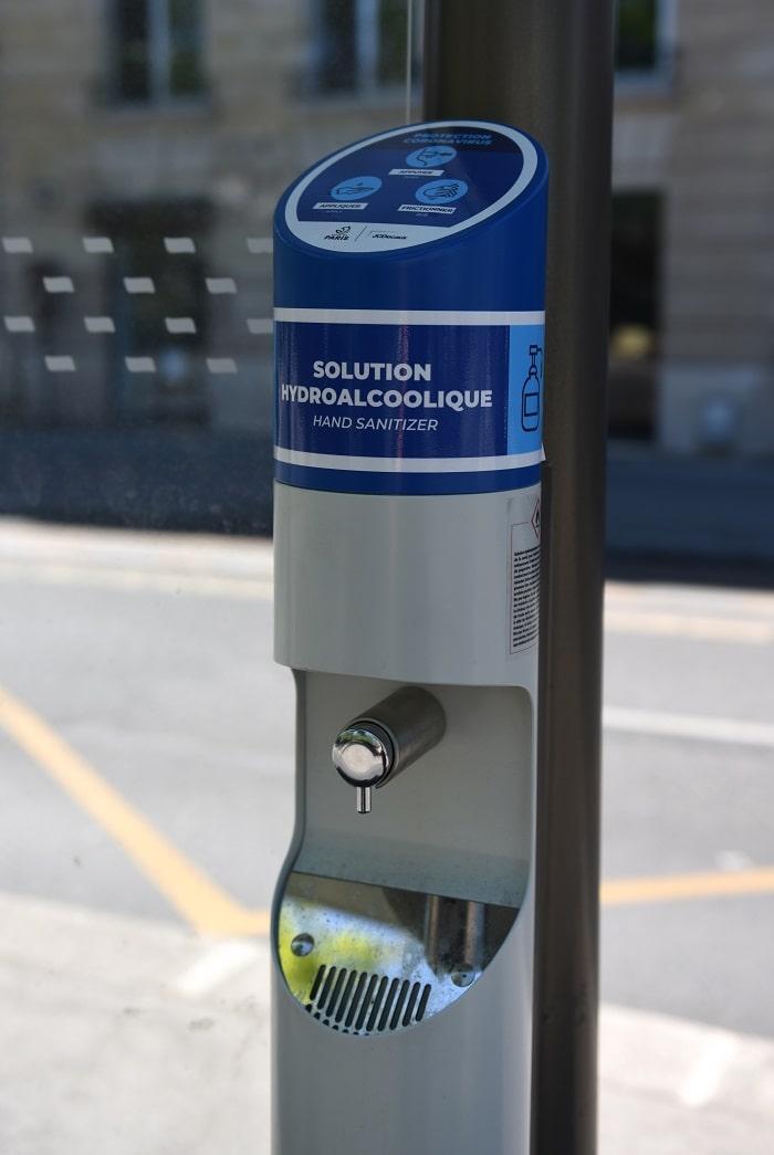 Paris, hand sanitizer