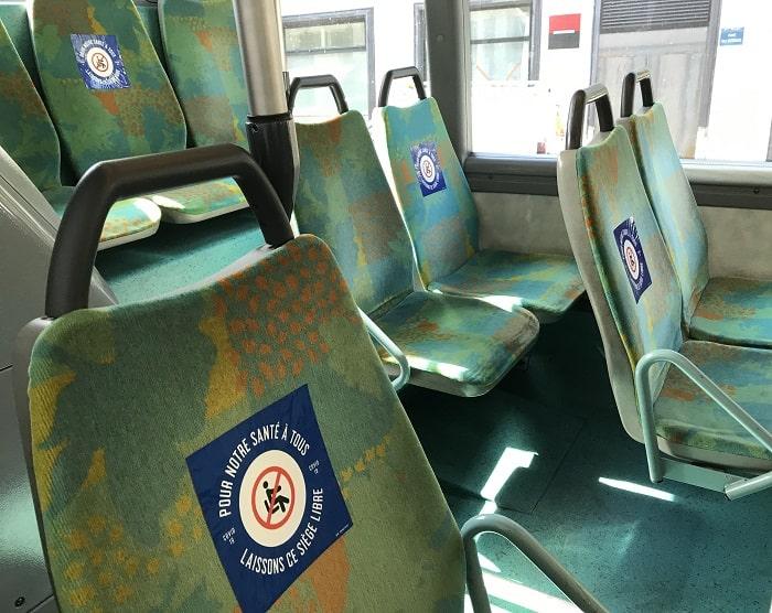 Paris bus seat