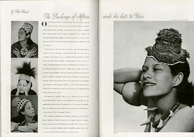 "Man Ray, ""The Bushongo of Africa Sends His Hats to Paris,"""