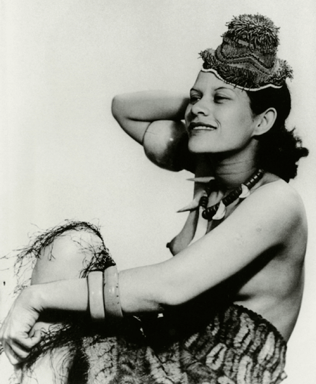 Man Ray, Adrienne Fidelin photographed for Mode au Congo series, 1937, gelatin silver print