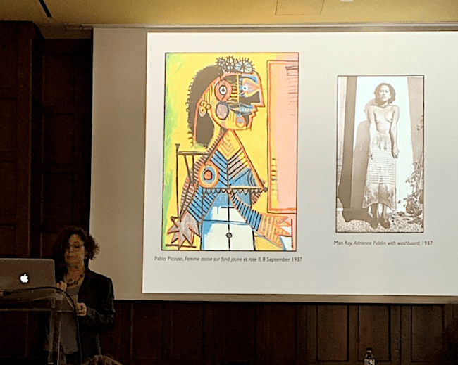 Wendy A. Grossman, Ph.D., presenting on Adrienne Fidelin's portrait by Picasso