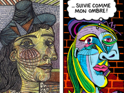 Picasso and the Comics