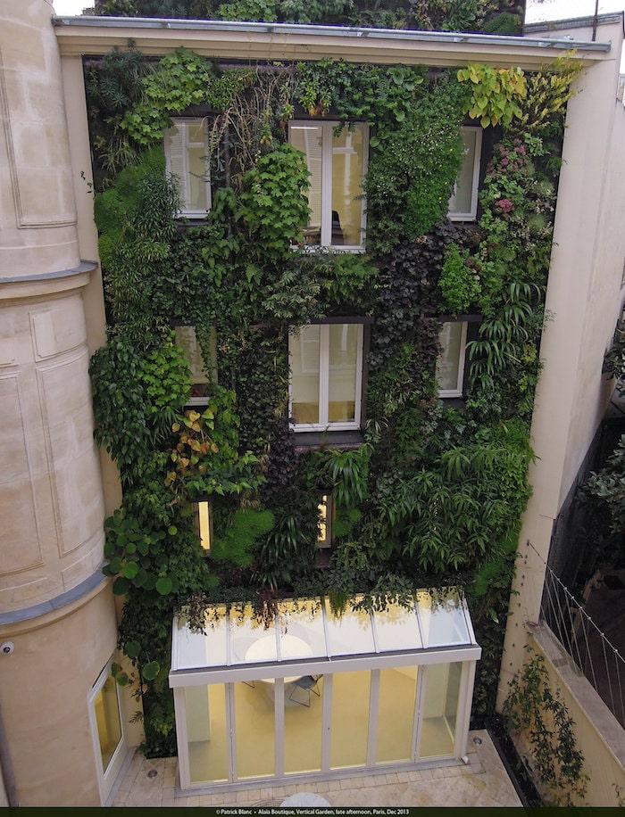 Alaia Boutique vertical garden, Patrick Blanc