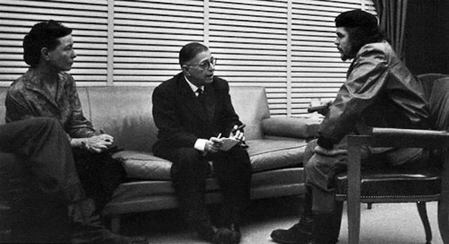 Jean-Paul Sartre, Simone de Beauvoir and Che Guevara