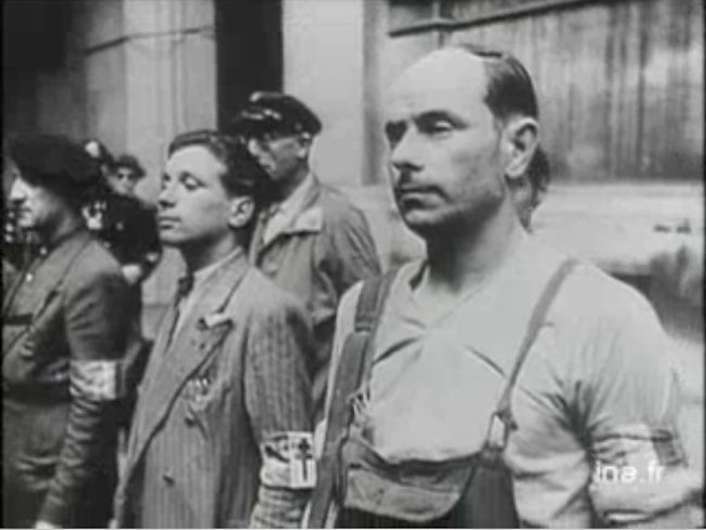 Resistance fighters in Paris, August 1944