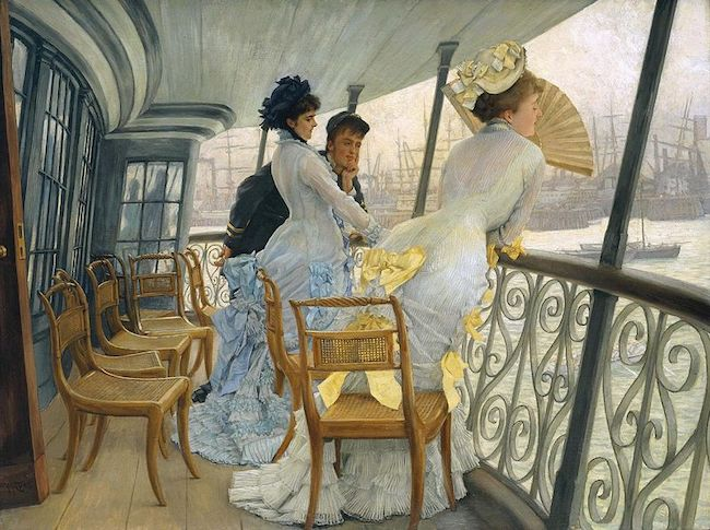 James Tissot, The Gallery of the H.M.S. Calcutta (Portsmouth), c. 1876. Oil on canvas, Tate Gallery, London. Public Domain: Wikipedia
