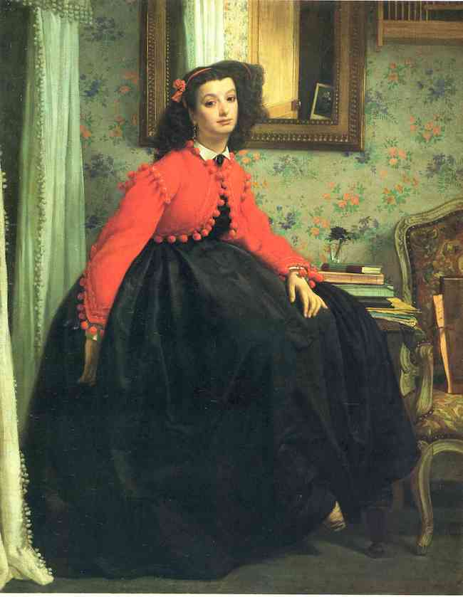 James Tissot, The Red Jacket, 1864, oil on canvas, Musée d'Orsay. Public Domain: Wikipedia