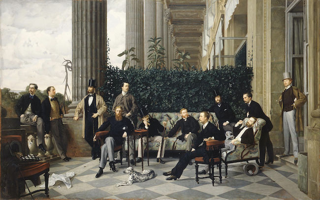 James Tissot, The Circle of the Rue Royale (a scene from Paris seen from the balcony of the Hôtel de Coislin overlooking the Place de la Concorde), 1868, oil on canvas, Musée d'Orsay. Public Domain: Wikipedia